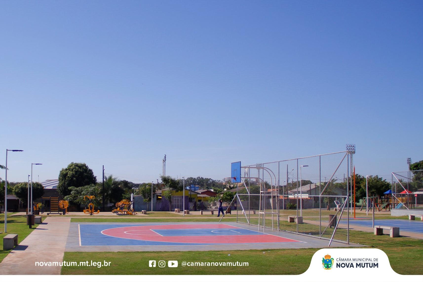 248bf12627ece8 ... a necessidade de construir uma praça dotada com toda infraestrutura  como quadras esportivas, academia da terceira idade, playground,  iluminação, ...